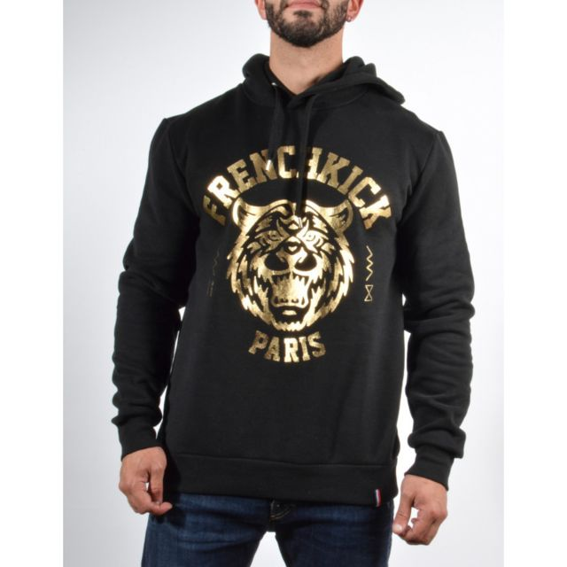 French Kick Fk gang tiger, Black - gold