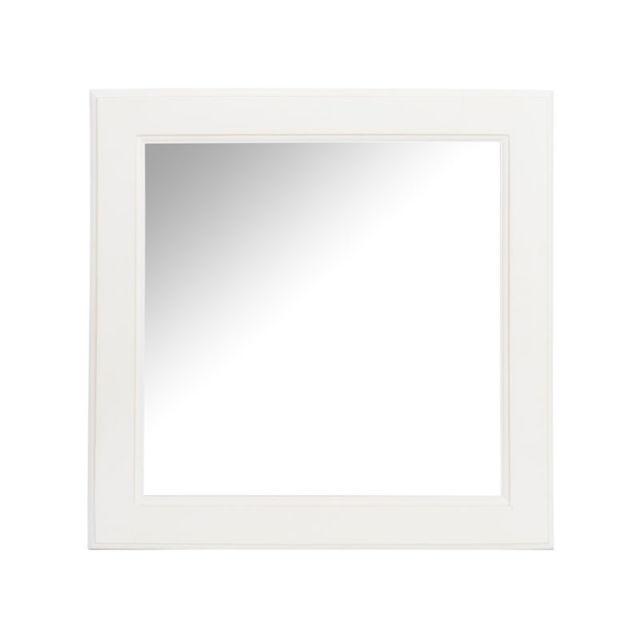 Tousmesmeubles Miroir carré Bois blanc - Anivia