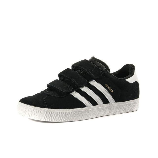 finest selection 35675 cde55 Adidas - Chaussures Gazelle 2 Noir Garçon Fille Noir 31.5 - pas cher Achat   Vente Baskets homme - RueDuCommerce