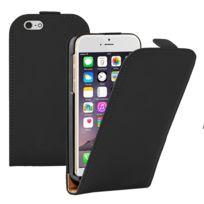 Vcomp - Housse Coque Etui Cuir Pu Vrai pour Apple iPhone 6/ 6s - Noir