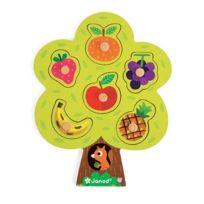 Janod - Puzzle encastrement en bois : Arbre gourmand