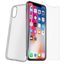 Avizar - Pack Protection iPhone X / Xs Coque transparente + Verre trempé