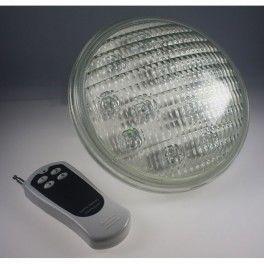 Desineo ampoule de piscine par56 18x3 w led avec t l commande pas cher achat vente - Ampoule led piscine telecommande ...