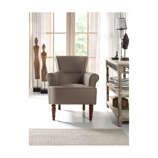 Rocambolesk Fauteuil Jodie taupe