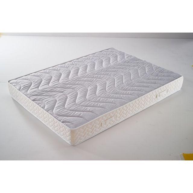 Literie Julien Matelas Mémoire de Forme 65 Kg/m3 70x190 x 20,5 cm Très Ferme - 7 Zones de Confort - Noyau Aertech+ 35 Kg/m3 Hr Haute De