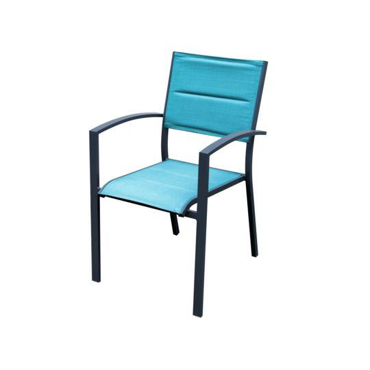 CANBERRA - Fauteuil de jardin - Bleu. à Prix Carrefour