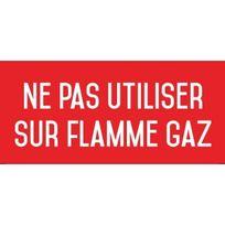 Editions Uttscheid - Ne pas utiliser sur flamme gaz - Autocollant vinyl waterproof - L.200 x H.100 mm