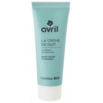 Avril - Crème de nuit peaux sèches et sensibles Bio, 50 ml