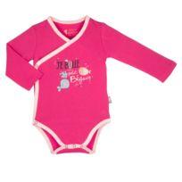 Petit Beguin - Body croisé bébé fille manches longues Petit Poisson -  Taille - 24 mois 78087c68a49