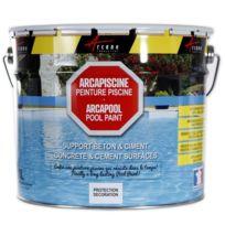 Arcane Industries - Peinture piscine bassin béton ciment décoration imperméable plastique bleu blanc gris grise jaune sable noir vert Arcapiscine - Couleur : noir graphite ral 9011 - Contenance : 10l