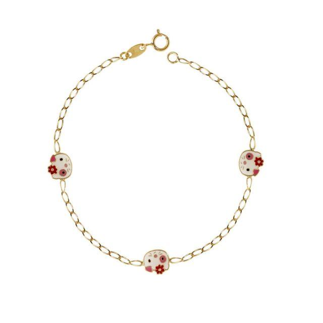 bracelet femme chat