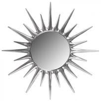 COMFORIUM - Miroir décoratif mural en aluminium couloris argent