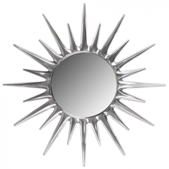comforium miroir dcoratif mural en aluminium couloris argent