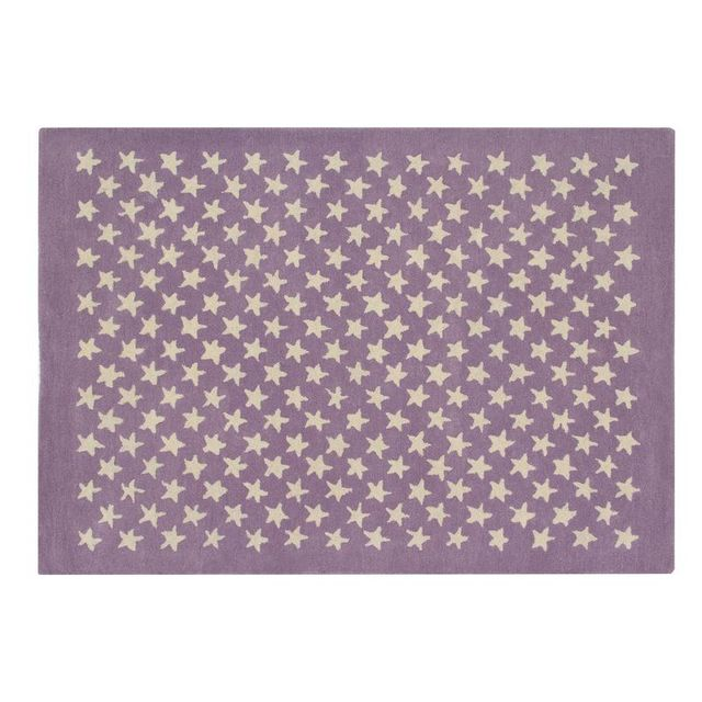 Lorena Canals - Tapis Little Stars Parme rectangle en laine et coton ...