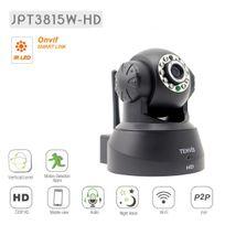 TENVIS - JPT3815W-HD Caméra de surveillance HD 720P 1280x720 H264 IP Wifi sans fil - Application téléphone & Notice en français - Détection mouvement Alerte - Vision Nocturne - Son bidirectionnel - Motorisée
