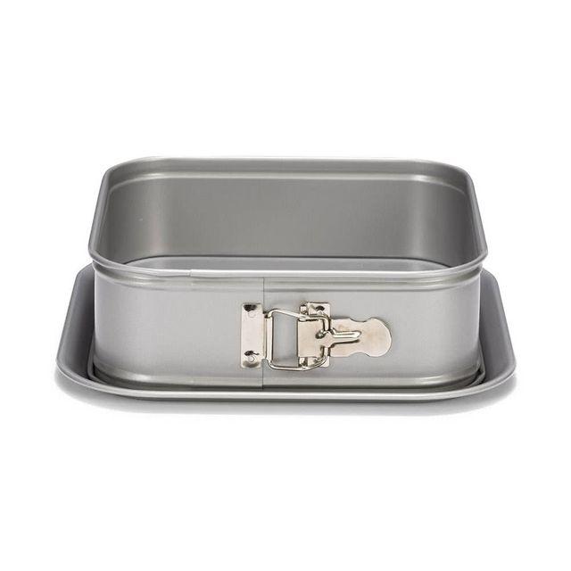 Patisse Moule à manqué carré en acier revêtu bord haut 24cm Silver Top