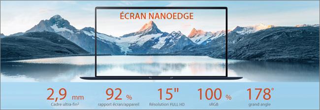 Ecran Full HD NanoEdge