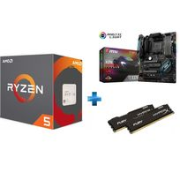 AMD - Processeur Ryzen 5 1600X + Carte mère X370 GAMING PRO CARBON - Ryzen - Socket AM4 + HyperX Fury 16 Go 2 x 8 Go DDR4 2133 MHz Cas 14