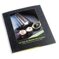 LANSA DESIGN - livre de recettes pour easy sushi 3.5cm - le tour du monde des sushis