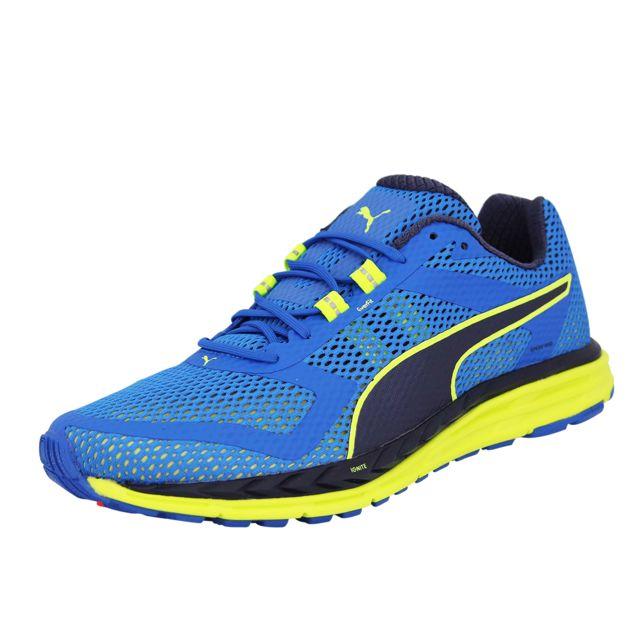 287689adf5c327 Puma - Speed 500 Ignite Chaussures de Running Homme Bleu - pas cher Achat   Vente  Chaussures running - RueDuCommerce