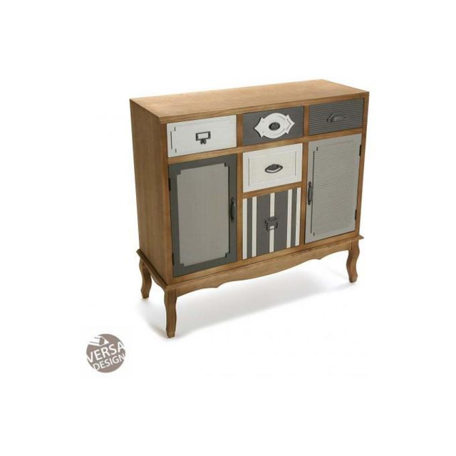 Declikdeco Cette grande Commode De 7 Tiroirs Nyffa au design réinventé mélange subtilement un meuble classique à un revêtement mode