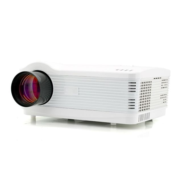 Auto-hightech Video projecteur Hd Android 4.1 , 3000 Lumens, 2000:1, 1.5GHz Dual Core, WiFi, 8Go, Blanc