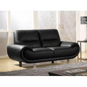 la maison du canap canap cuir 2 places angie cuir. Black Bedroom Furniture Sets. Home Design Ideas