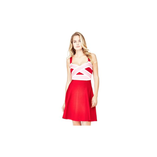 Guess Robe Margharette W74K79 Rouge Taille L pas
