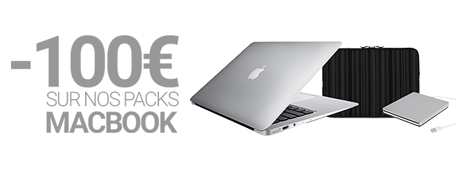 -100€ sur nos packs MacBook