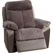 Comforium - Fauteuil 1 place relax électrique coloris gris foncé