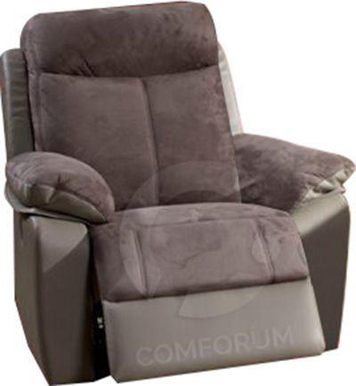 Comforium Fauteuil 1 place relax électrique coloris gris foncé