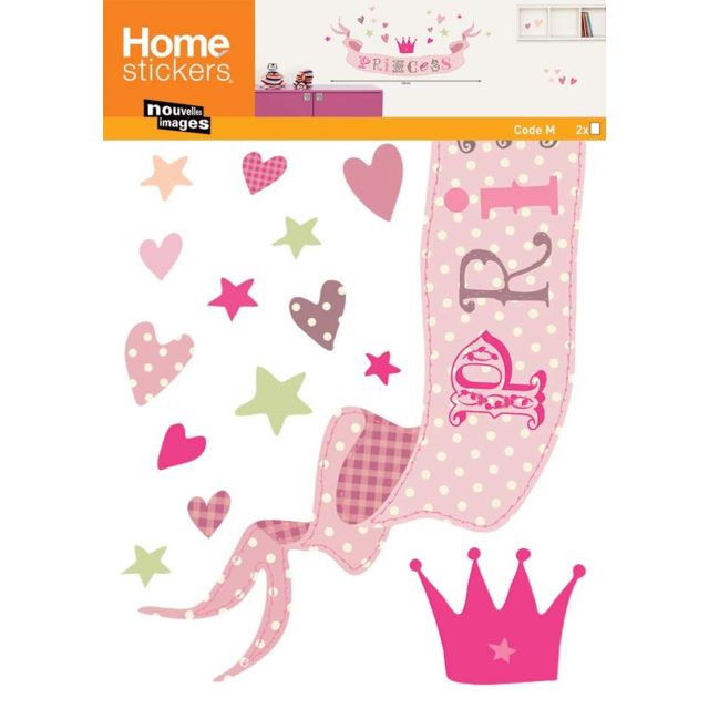 nouvelles images sticker mural princess pas cher achat vente stickers rueducommerce. Black Bedroom Furniture Sets. Home Design Ideas