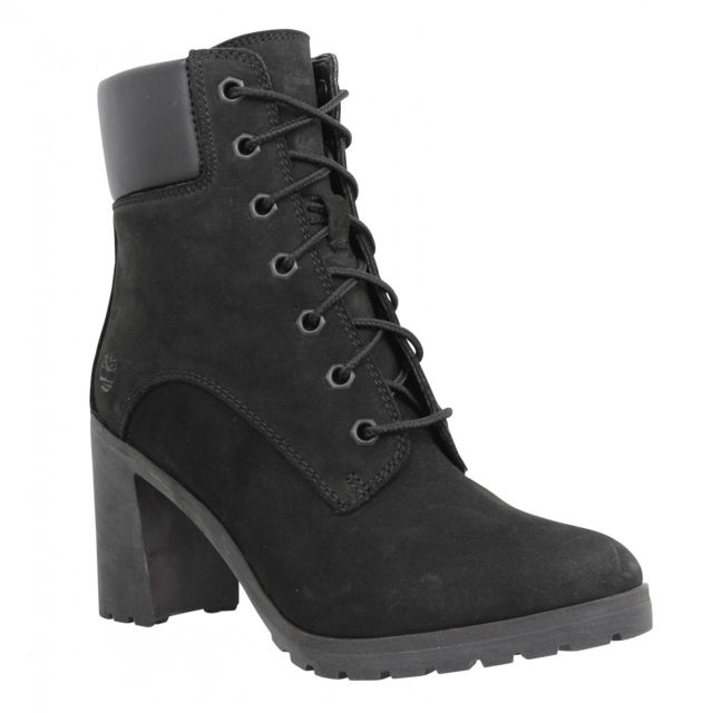 Timberland Allington 6in Lace Up velours Femme 39,5 Black