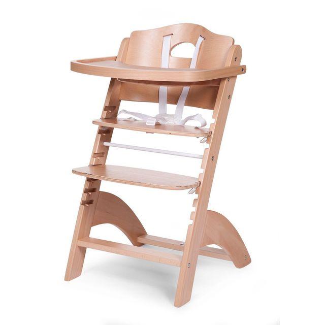 Comforium chaise haute volutive pour b b coloris bois naturel pas cher achat vente - Chaise haute evolutive carrefour ...