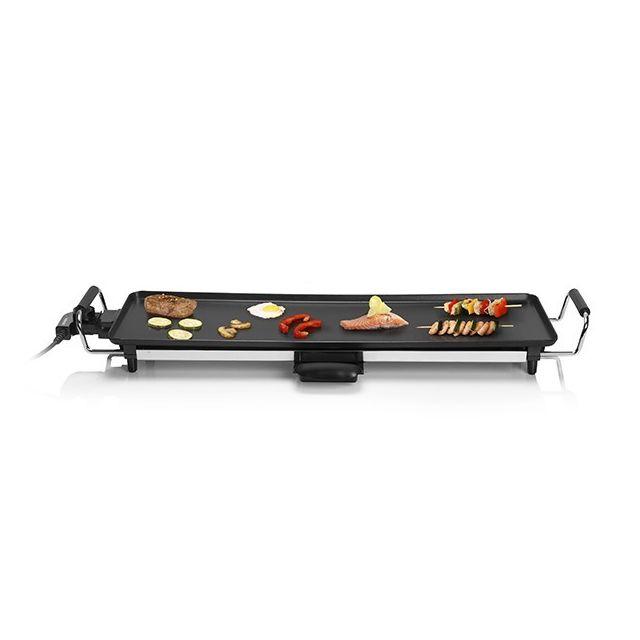 Plancha lectrique de cuisine avec rev tement anti adh rant 2000w noir grill de table pas - Revetement table cuisine ...