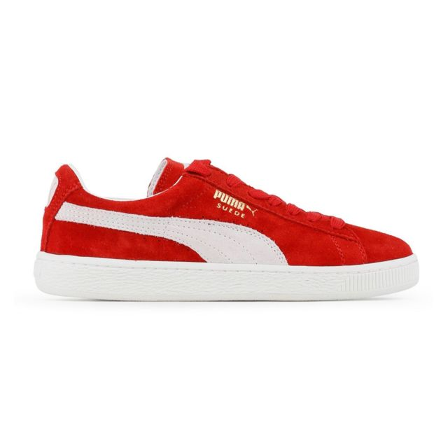 Puma Baskets Sneakers Suede Classic Rouge pas cher