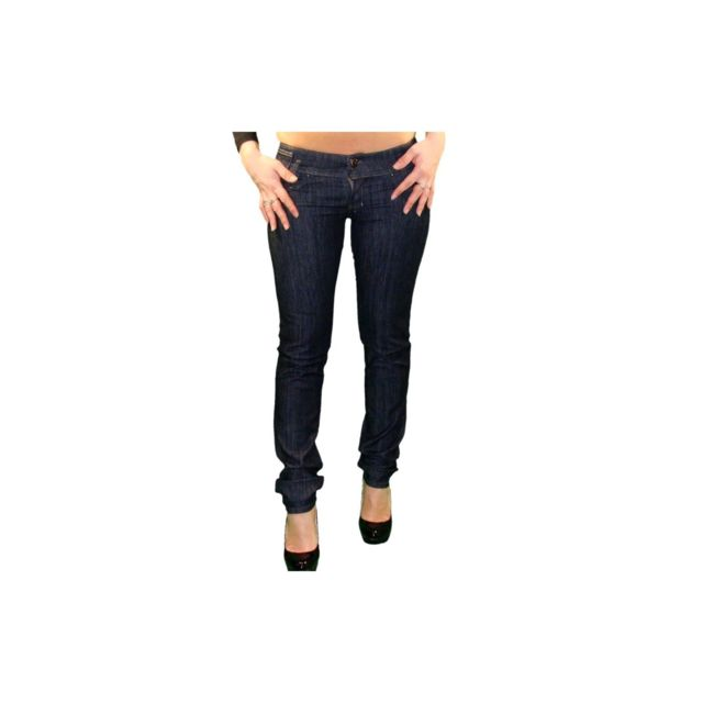9feb908076f Diesel - Jean - Femme - Matic 08wz - Bleu - Stretch - pas cher Achat   Vente  Jeans femme - RueDuCommerce