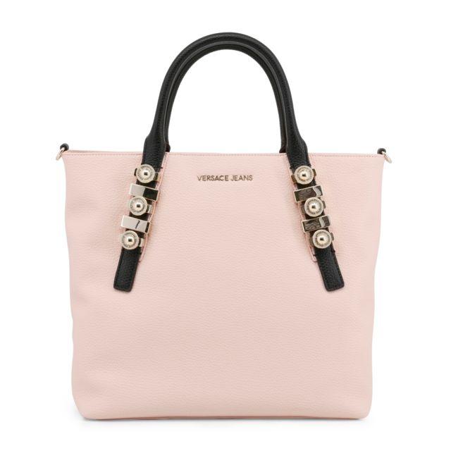 Buzzao Sac à main rose détail bijoux femme Versace Jeans