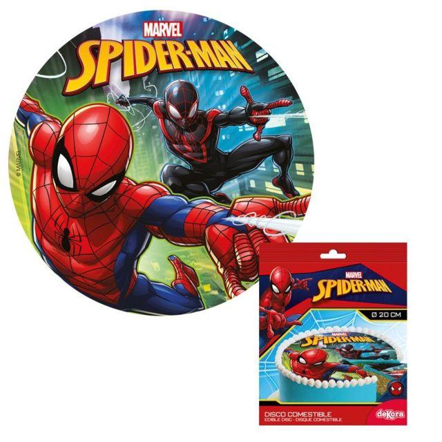 Sans Disque Sucre Spiderman 20cm Décoration Gâteau Anniversaire
