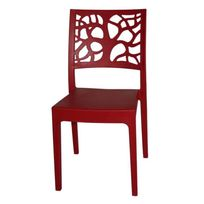 Areta - Chaise de Jardin Teti Rouge