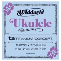 D'ADDARIO - Pro Arté Titanium Ej87C - Cordes ukulélé Concert