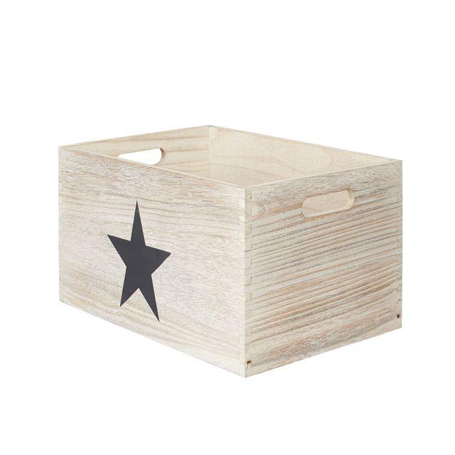 Alinea Star Caisse De Rangement En Bois 18x24x34cm Pas Cher Achat Vente Boite De Rangement Rueducommerce