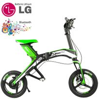 Moovway - Mini scooter électrique pliable batterie lithium grande vitesse port usb 30 km/h 48V Vert connecté bluetooth