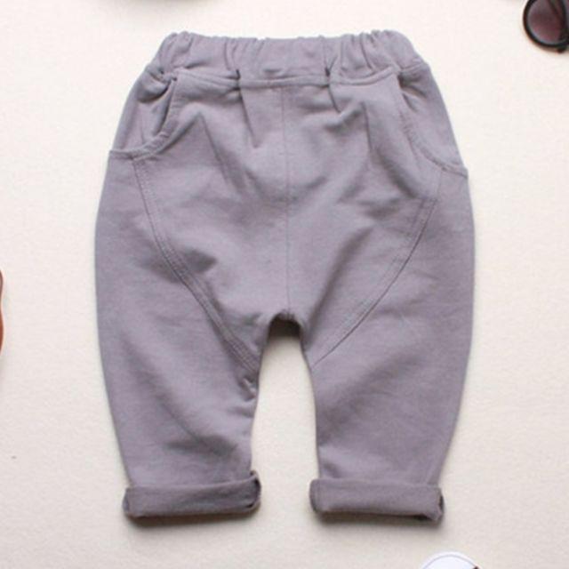 d377ed098ad29 Wewoo - Pantalons enfants gris Bébé Garçons Filles Printemps Jogger Coton  Patchwork Pantalon Harem Pantalon,