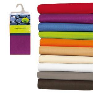 les douces nuits de ma drap housse 200x200 100 coton prune pas cher achat vente draps. Black Bedroom Furniture Sets. Home Design Ideas