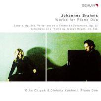 Genuin Musikproduktion - Brahms : Oeuvres pour duo de pianos. Chipak, Kushnir