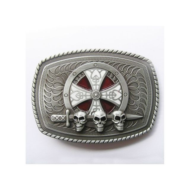 Universel - Boucle de ceinture croix celte crane epée tete de mort mixte b4ace759611