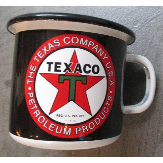Universel Mug texaco petroleum en email tasse à café emaillée