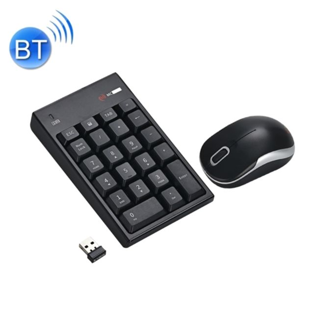 wewoo mini clavier qwerty noir pour pc bureau ordinateur portable mac pad num rique sans fil. Black Bedroom Furniture Sets. Home Design Ideas