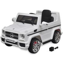 Justdeco - Superbe Voiture Suv électrique Mercedes Benz G65 2 moteurs Blanc neuf